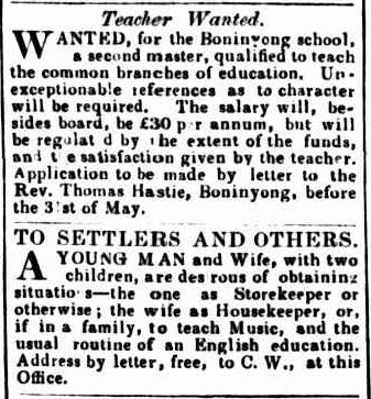 Advertising. (1851, May 20). Geelong Advertiser (Vic. : 1847 - 1851), p. 3 Edition: DAILY and MORNING. Retrieved June 2, 2013, from http://nla.gov.au/nla.news-article91914023