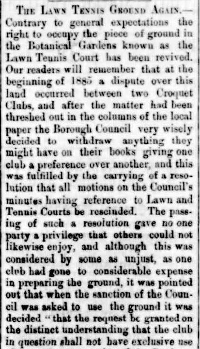 THE LAWN TENNIS GROUND AGAIN. (1887, September 2). Portland Guardian (Vic. : 1876 - 1953), p. 2 Edition: EVENING. Retrieved July 4, 2013, from http://nla.gov.au/nla.news-article65410048