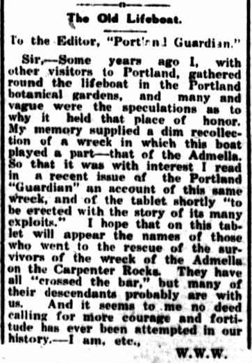 OUR LETTER BOX. (1929, May 16). Portland Guardian (Vic. : 1876 - 1953), p. 2 Edition: EVENING. Retrieved July 4, 2013, from http://nla.gov.au/nla.news-article64269425