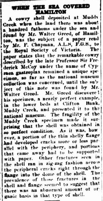 WHEN THE SEA COVERED HAMILTON. (1931, June 26). The Horsham Times (Vic. : 1882 - 1954), p. 2. Retrieved June 16, 2013, from http://nla.gov.au/nla.news-article72635176