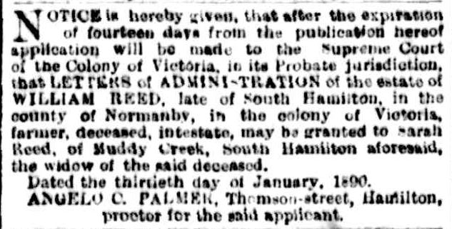 Advertising. (1890, January 30). The Argus (Melbourne, Vic. : 1848 - 1957), p. 10. Retrieved June 15, 2013, from http://nla.gov.au/nla.news-article8586393