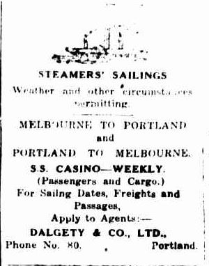 Advertising. (1932, July 11). Portland Guardian (Vic. : 1876 - 1953), p. 4 Edition: EVENING. Retrieved July 8, 2013, from http://nla.gov.au/nla.news-article64298708