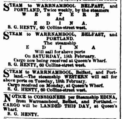 Advertising. (1868, February 12). The Argus (Melbourne, Vic. : 1848 - 1957), p. 1. Retrieved July 8, 2013, from http://nla.gov.au/nla.news-article5790334