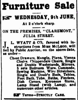 Advertising. (1920, June 3). Portland Guardian (Vic. : 1876 - 1953), p. 2 Edition: EVENING.. Retrieved July 18, 2013, from http://nla.gov.au/nla.news-article64021540