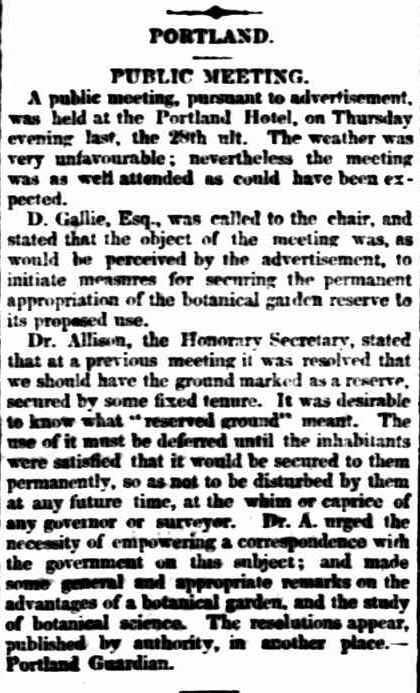 PORTLAND. (1853, August 5). Geelong Advertiser and Intelligencer (Vic. : 1851 - 1856), p. 1 Edition: DAILY., Supplement: SUPPLEMENT TO THE GEELONG ADVERTISER AND INTELLIGENCER. Retrieved July 7, 2013, from http://nla.gov.au/nla.news-article86412916
