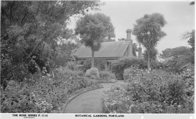 PORTLAND BOTANICAL GARDENS. Image Courtesy of the State Library of Victoria. Image no. H32492/1655 http://handle.slv.vic.gov.au/10381/64772