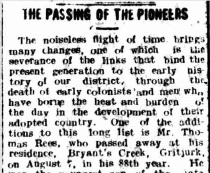 THE PASSING OF THE PIONEERS. (1918, August 15). Hamilton Spectator (Vic. : 1914 - 1918), p. 4. Retrieved August 30, 2013, from http://nla.gov.au/nla.news-article119505339