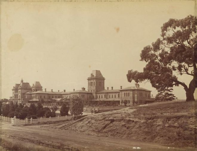 KEW LUNATIC ASYLUM (c 1878-1894) Photographer John William Lindt.  Image courtesy of the State Library of Victoria.   Image no: H2008.59/25 http://handle.slv.vic.gov.au/10381/41805