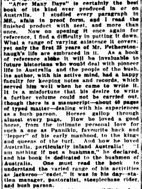 CUTHBERT FETHERSTONHAUGH. (1925, July 15). The Sydney Morning Herald (NSW : 1842 - 1954), p. 12. Retrieved October 13, 2013, from http://nla.gov.au/nla.news-article16210414