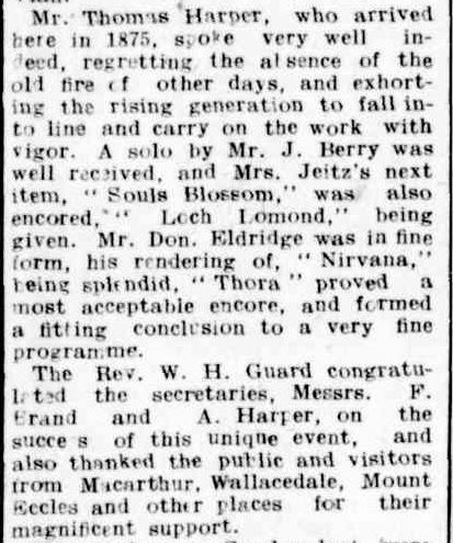 METHODIST JUBILEE AT BYADUK. (1914, May 9). Hamilton Spectator (Vic. : 1914 - 1918), p. 8. Retrieved September 18, 2013, from http://nla.gov.au/nla.news-article119828889