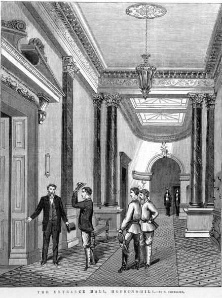 THE ENTRANCE HALL, HOPKINS HILL. - Nicholas Chevalier. Image courtesy of the State Library of Victoria. Image no. IAN04/02/68/SUPP/1 http://handle.slv.vic.gov.au/10381/237840