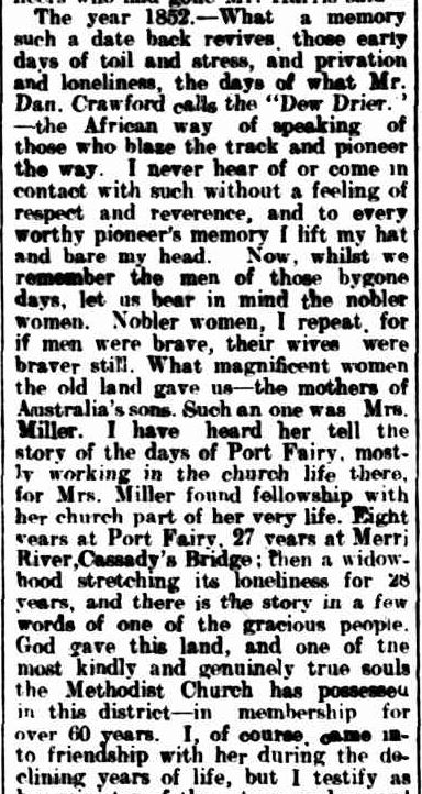 METHODIST CHURCH. (1914, September 14). Warrnambool Standard (Vic. : 1914 - 1918), p. 4 Edition: DAILY.. Retrieved September 25, 2013, from http://nla.gov.au/nla.news-article73581774