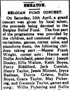 SMEATON. (1915, April 20). Creswick Advertiser (Vic. : 1914 - 1918), p. 2. Retrieved September 10, 2013, from http://nla.gov.au/nla.news-article119521368