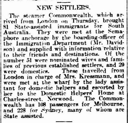 GENERAL NEWS. (1913, September 12). The Advertiser (Adelaide, SA : 1889 - 1931), p. 18. Retrieved September 14, 2013, from http://nla.gov.au/nla.news-article5801205