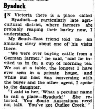 Cut among the People. (1938, May 11). The Advertiser (Adelaide, SA : 1931 - 1954), p. 27. Retrieved October 1, 2013, from http://nla.gov.au/nla.news-article30867560