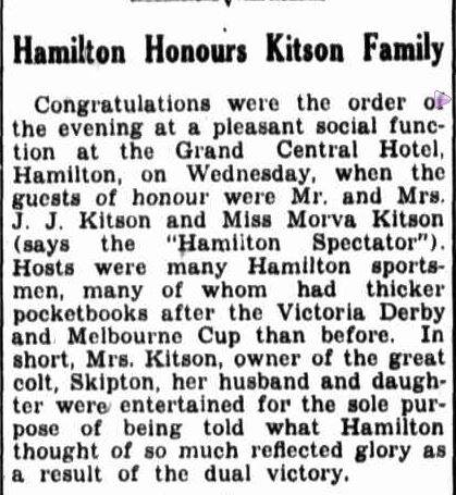 Hamilton Honours Kitson Family. (1941, November 15). Border Watch (Mount Gambier, SA : 1861 - 1954), p. 6. Retrieved November 2, 2013, from http://nla.gov.au/nla.news-article78132418