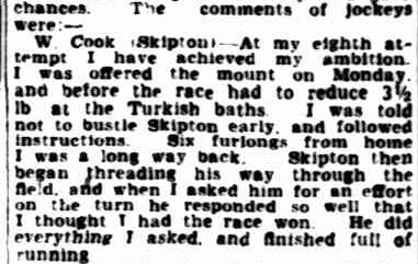 Not Easy Horse To Train. (1941, November 5). The Advertiser (Adelaide, SA : 1931 - 1954), p. 4. Retrieved November 2, 2013, from http://nla.gov.au/nla.news-article45736493