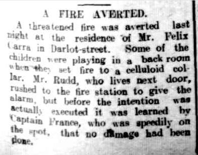 A FIRE AVERTED. (1915, June 22). The Horsham Times (Vic. : 1882 - 1954), p. 5. Retrieved November 25, 2013, from http://nla.gov.au/nla.news-article72974894