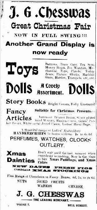 Advertising. (1915, December 18). Penshurst Free Press (Vic. : 1914 - 1918), p. 2. Retrieved December 17, 2013, from http://nla.gov.au/nla.news-article119562126