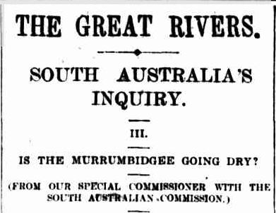 THE GREAT RIVERS. (1914, May 21). The Sydney Morning Herald (NSW : 1842 - 1954), p. 8. Retrieved January 13, 2014, from http://nla.gov.au/nla.news-article15509742