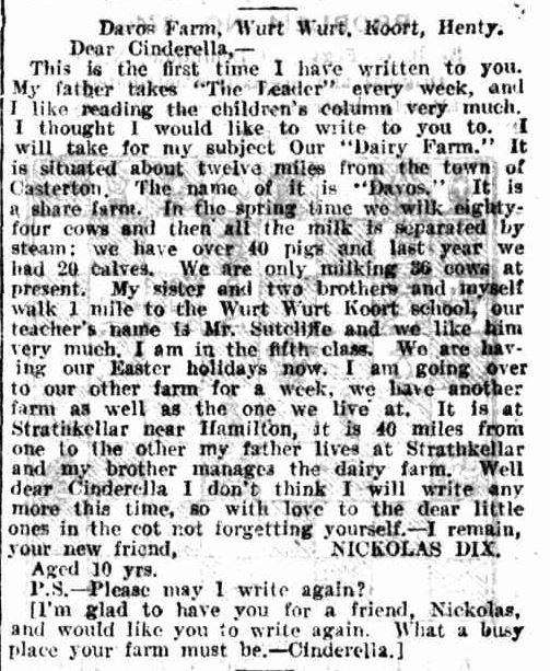 CORRESPONDENCE. (1914, June 13). Leader (Melbourne, Vic. : 1914 - 1918), p. 58. Retrieved January 27, 2014, from http://nla.gov.au/nla.news-article89313857