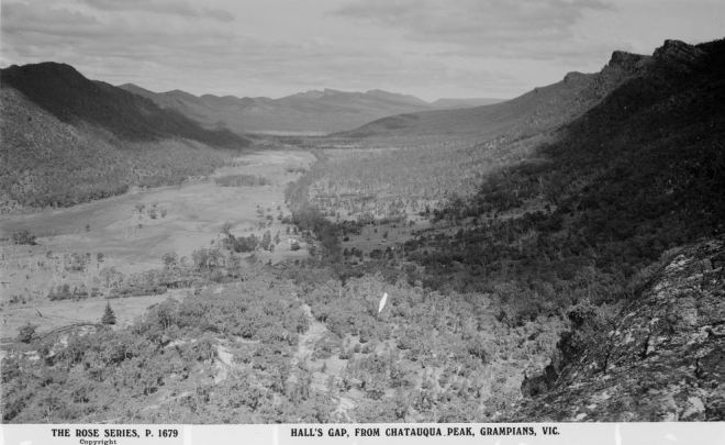 FYANS VALLEY, HALLS GAP.  Image Courtesy of State Library of Victoria.  Image no. H32492/2399  http://handle.slv.vic.gov.au/10381/63181