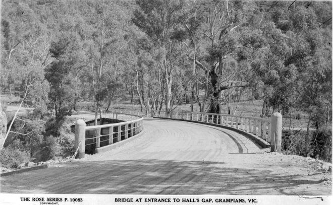 DELLEY'S BRIDGE, HALLS GAP.  Image Courtesy of the State Library of Victoria.  Image no.  H32492/6669 http://handle.slv.vic.gov.au/10381/58616