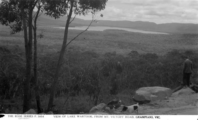 LAKE WARTOOK, GRAMPIANS.  Image Courtesy of the State Library of Victoria.  Image no.  H32492/5317 http://handle.slv.vic.gov.au/10381/59375