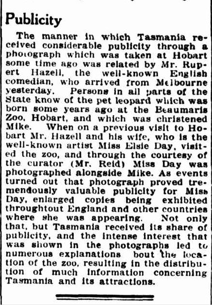 NORTHERN NOTES. (1934, March 7). The Mercury (Hobart, Tas. : 1860 - 1954), p. 5. Retrieved January 6, 2014, from http://nla.gov.au/nla.news-article24916596