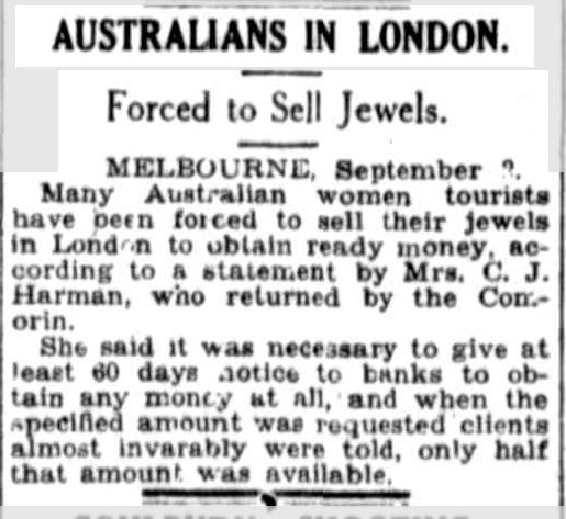 AUSTRALIANS IN LONDON. (1930, September 3). Townsville Daily Bulletin (Qld. : 1885 - 1954), p. 7. Retrieved March 18, 2014, from http://nla.gov.au/nla.news-article60774888