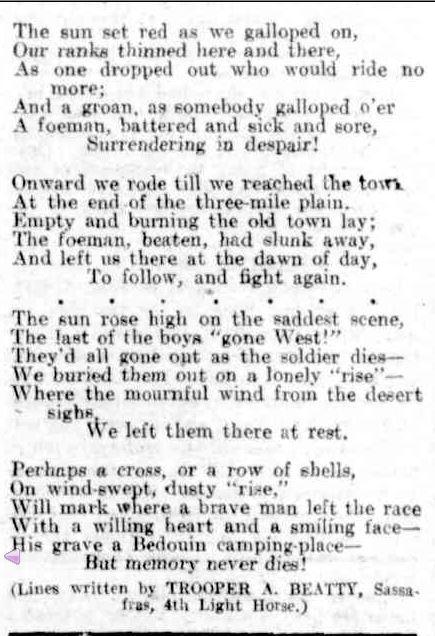ORIGINAL POETRY. (1918, September 21). The Australasian (Melbourne, Vic. : 1864 - 1946), p. 53. Retrieved April 21, 2014, from http://nla.gov.au/nla.news-article140212130