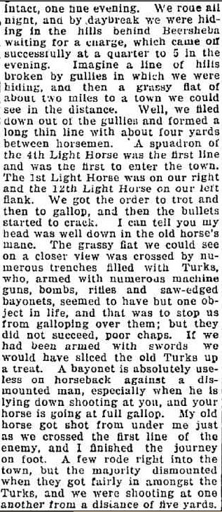OUR SOLDIERS. LETTER FROM PALESTINE. (1918, February 28). Foster Mirror and South Gippsland Shire Advocate (Vic. : 1914 - 1918), p. 3. Retrieved April 21, 2014, from http://nla.gov.au/nla.news-article129511784