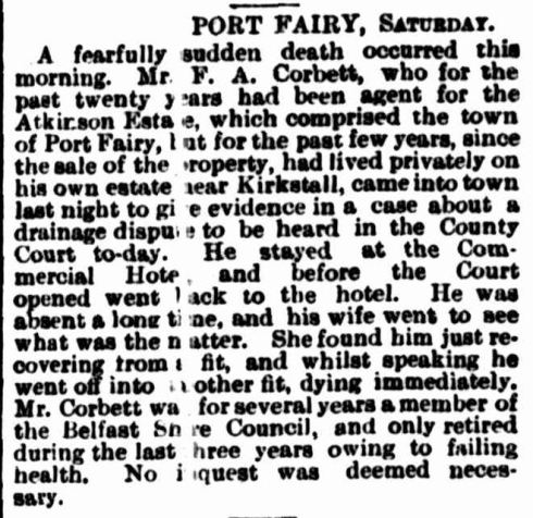 """COUNTRY NEWS."" The Argus (Melbourne, Vic. : 1848 - 1957) 12 Jun 1893: ."