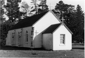 SOUTH HAMILTON LUTHERAN CHURCH.  Image courtesy of the State Library of Victoria.  Image no. H97.250/65  http://handle.slv.vic.gov.au/10381/229921