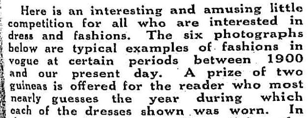 """""""Weekly Prize of Two Guineas."""" Table Talk (Melbourne, Vic. : 1885 - 1939) 31 Jul 1930: 19. ."""