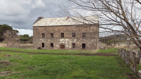 PETER LEARMONTH'S PRESTONHOLME MILL.  Photo courtesy of Denis Steer.