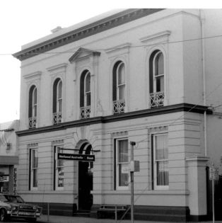 FORMER BANK OF VICTORIA, GRAY STREET. Image courtesy of the J.T. Collins collection, State Library of Victoria. Image no. H97.250/89http://handle.slv.vic.gov.au/10381/230031