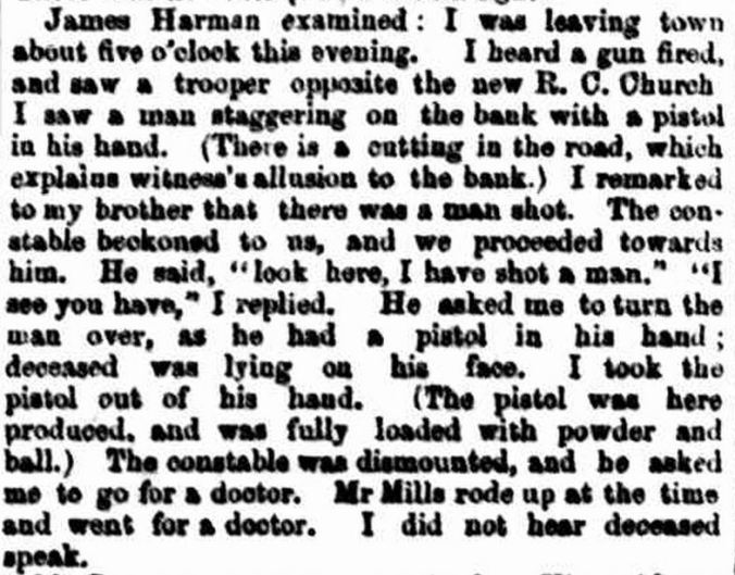 """A BUSHRANGER SHOT."" The Age (Melbourne, Vic. : 1854 - 1954) 24 Feb 1859 ."