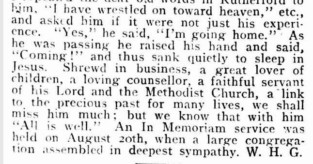 """In Memoriam."" Spectator and Methodist Chronicle (Melbourne, Vic. : 1914 - 1918) 11 Oct 1916: ."