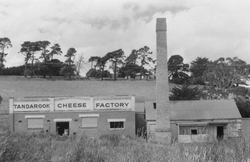 TANDAROOK  CHEESE FACTORY.  Image courtesy of the State Library of Victoria, J.T. Collins collection.  Image no. H98.251/1632 http://handle.slv.vic.gov.au/10381/234397