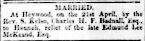 """Family Notices."" Portland Guardian and Normanby General Advertiser (Vic. : 1842 - 1876) 19 May 1864: 2 Edition: ."