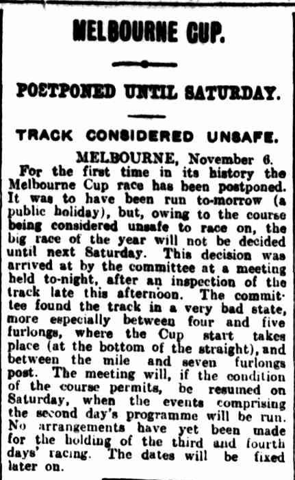 """MELBOURNE CUP."" The Brisbane Courier (Qld. : 1864 - 1933) 7 Nov 1916: ."