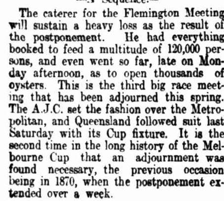 """THE POSTPONED CUP."" The Register (Adelaide, SA : 1901 - 1929) 8 Nov 1916 ."