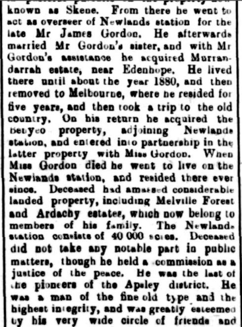 """OBITUARY."" The Horsham Times (Vic. : 1882 - 1954) 29 Dec 1905: 3. Web. 30 Dec 2014 ."
