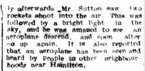 """A MYSTERIOUS AEROPLANE."" Hamilton Spectator (Vic. : 1914 - 1918) 20 Apr 1918:  ."