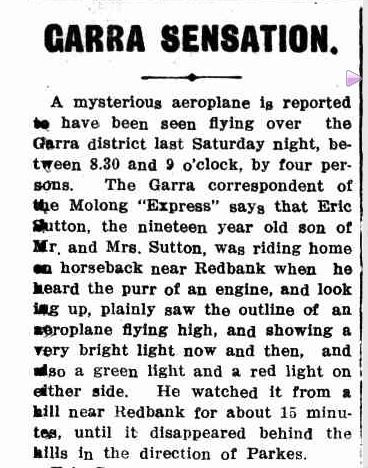 """GARRA SENSATION."" Western Champion (Parkes, NSW : 1898 - 1934) 9 Dec 1915: 28. ."
