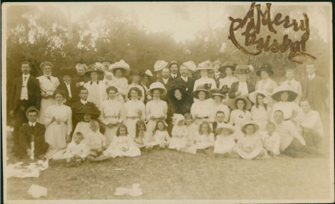 CHRISTMAS CARD 1911.  Courtesy of the State Library of Victoria, Image no. H84.37/4/90 http://handle.slv.vic.gov.au/10381/129663