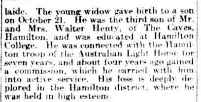 """ROLL OF HONOUR."" The Argus (Melbourne, Vic. : 1848 - 1957) 27 Oct 1915: 7. Web. 29 Jan 2015 ."