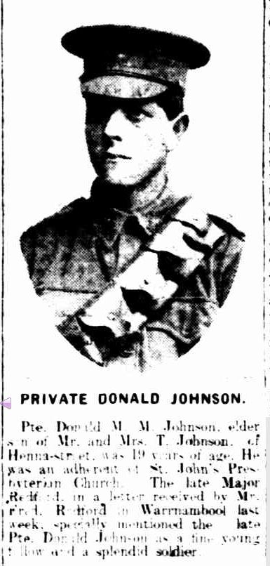 """WARRNAMBOOL HEROES."" Warrnambool Standard (Vic. : 1914 - 1918) 7 Sep 1915: 3 Edition: DAILY.. Web. 29 Jan 2015 ."