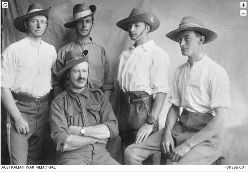 Image Courtesy of the Australian War Memorial Image No. P00265.001 http://www.awm.gov.au/collection/P00265.001/